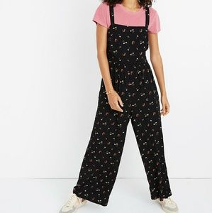 Madewell Smocked Crop Jumpsuit Flower Toss